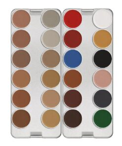 Neills Materials Aquacolor Palette 24 Kryolan